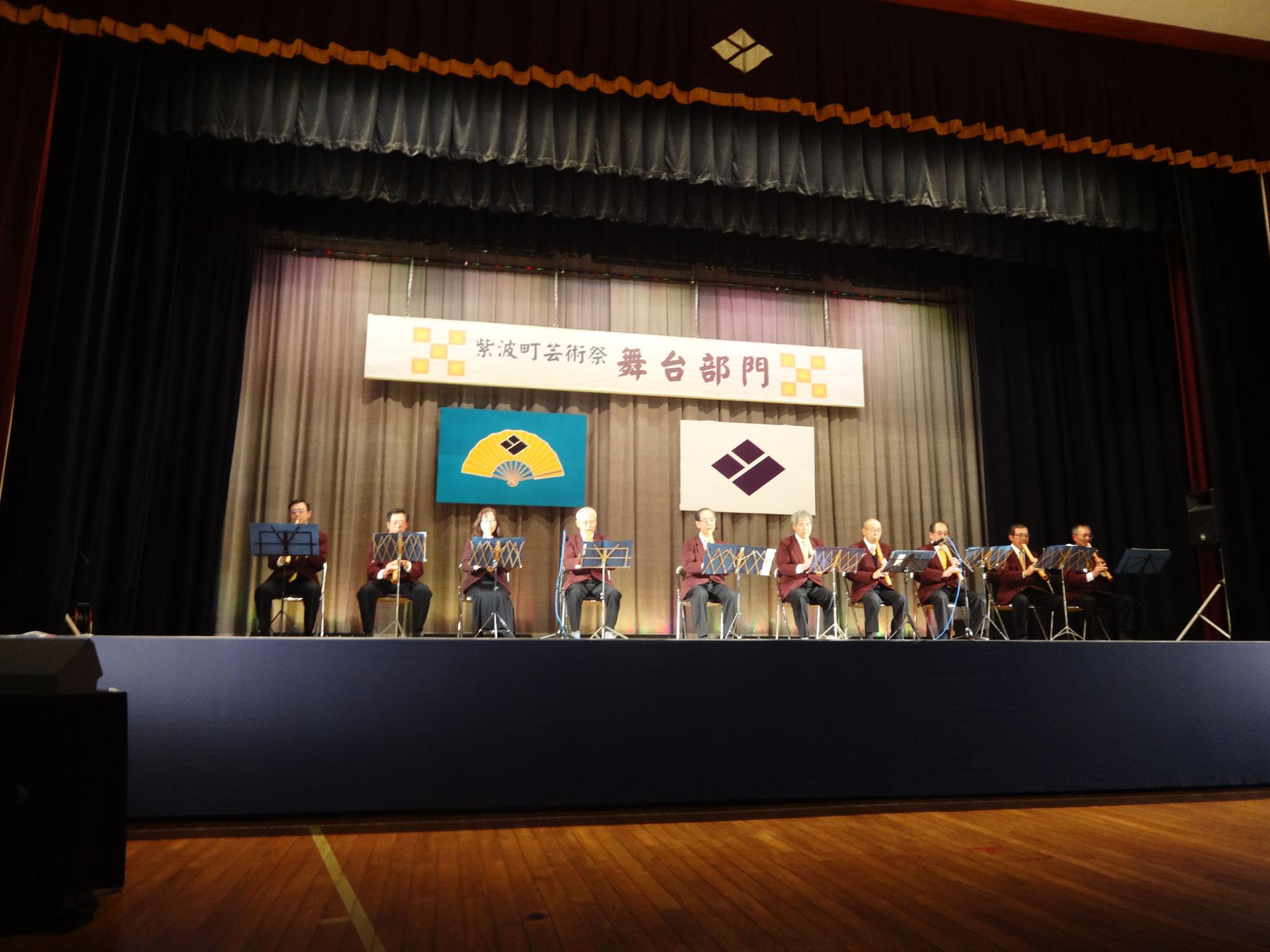 平成29年紫波町芸術祭で尺八演奏