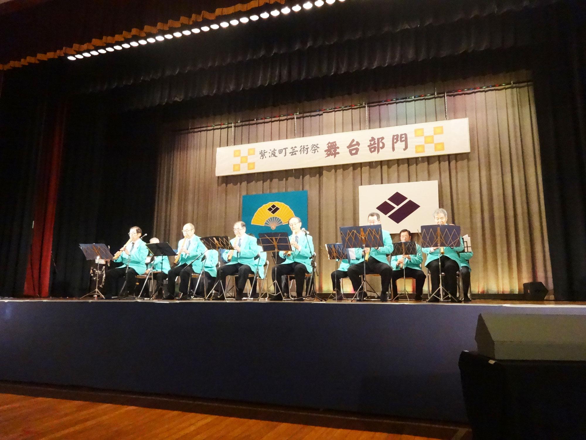 平成30年度第52回紫波町芸術祭で尺八演奏